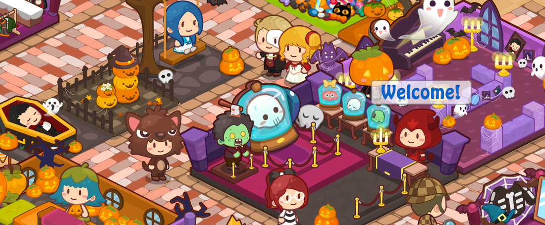 Happy Mall Story Halloween Banner