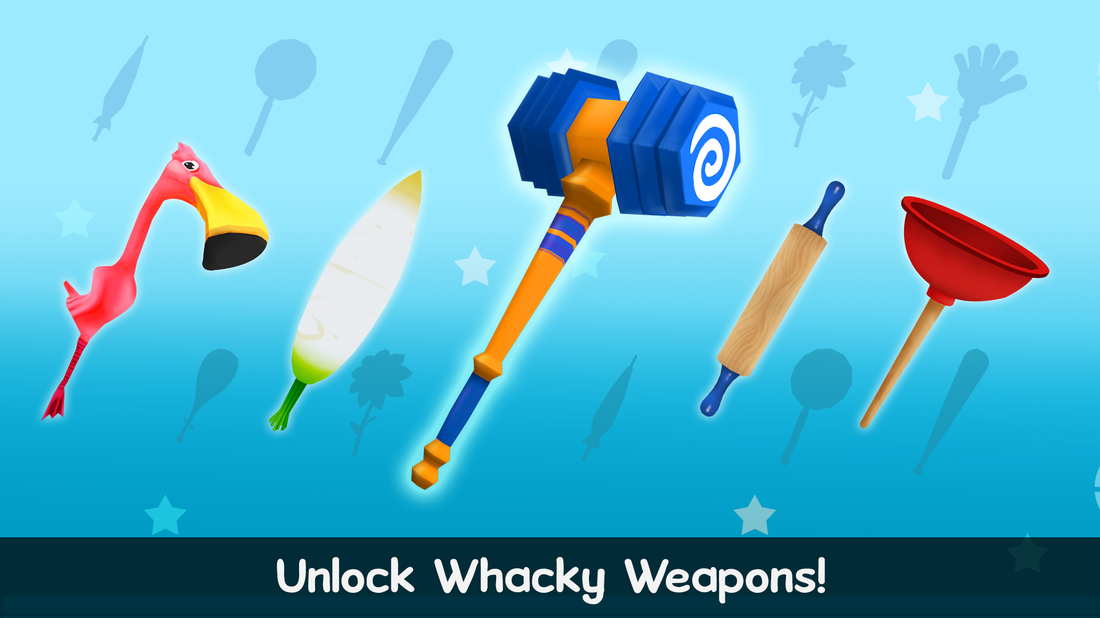 Skill up and unlock whacky weapons!