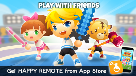 Play with friends by downloading HAPPY REMOTE from the App Store on your device!