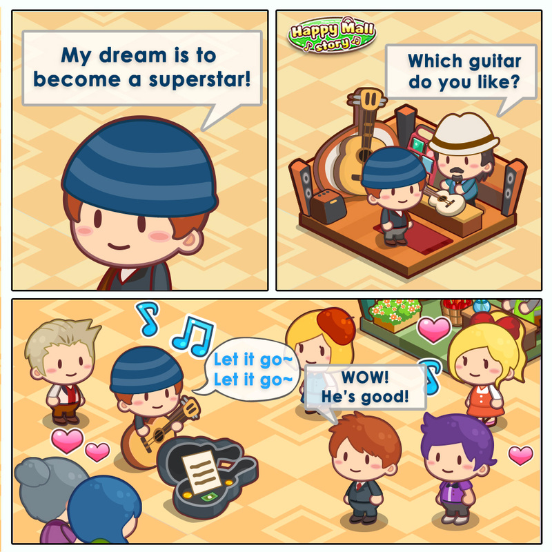 Happy Mall Story Dream Performer Comic
