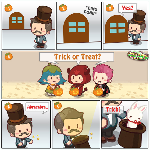 Happy Mall Story Trick or Treat Comic