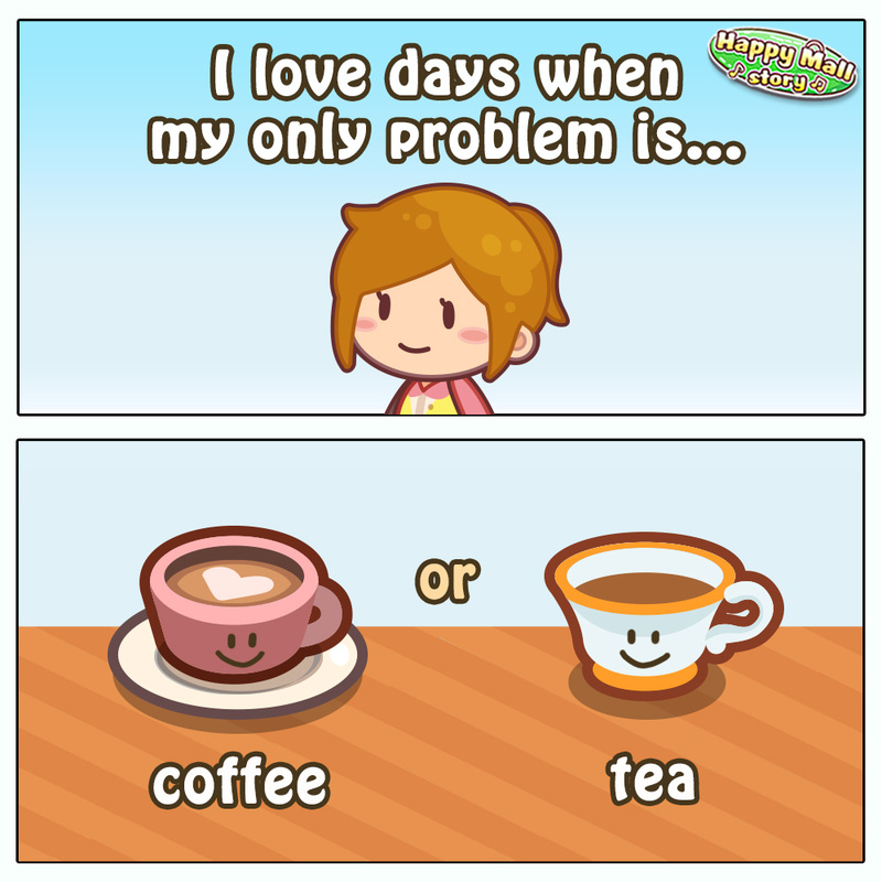 Happy Mall Story Coffee Tea Comic