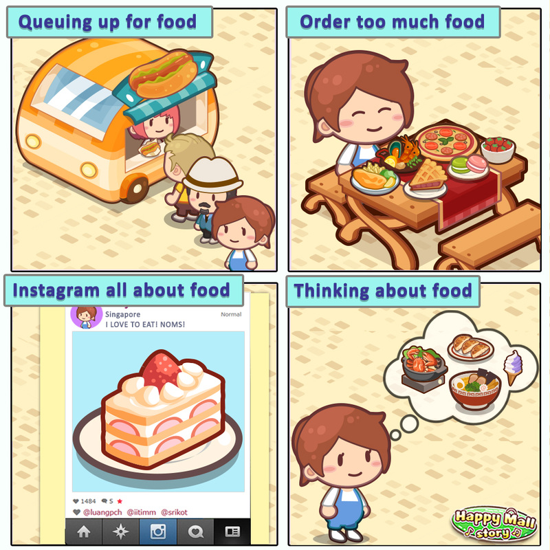 Happy Mall Story Foodie Comic